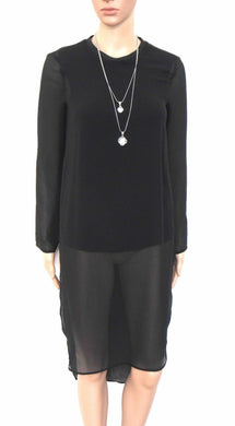 Zara black tunic/dress, day & night wear, sz. 8-10/XS, super chic