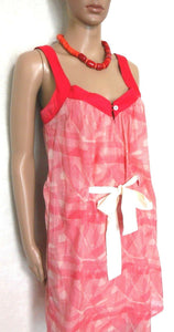 Ginger & Smart  sun dress, soft red/white, sz. 10, with pockets, exc. cnd.