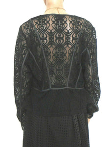 City Chic very dramatic black lace top, sz. 16/XS NWOT