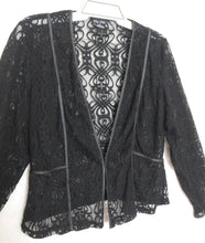 Load image into Gallery viewer, City Chic very dramatic black lace top, sz. 16/XS NWOT