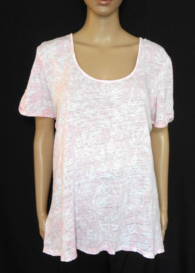 Country Road, baby pink linen blend tunic top, sz. 14-16/L , exc. cnd.