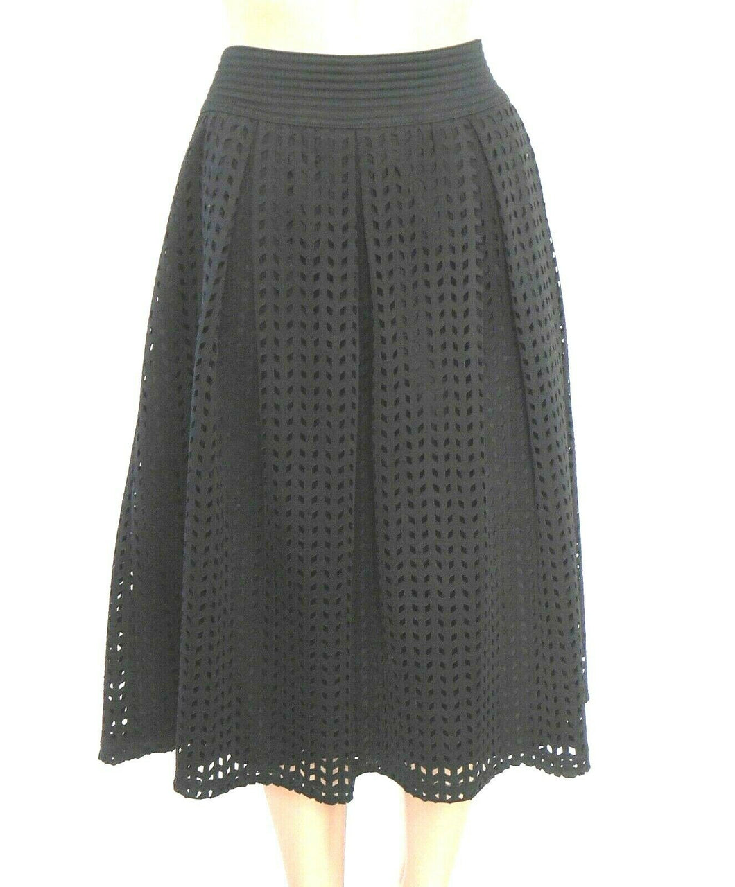 Maggie T black pleated skirt, day and after hours, sz. 16 as new - very chic