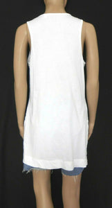 Country Road white tank tunic, sz. 10-12/S, long line, near new