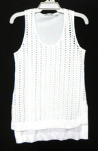 Load image into Gallery viewer, Country Road white tank tunic, sz. 10-12/S, long line, near new