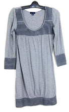 Load image into Gallery viewer, Witchery smock dress, black/grey striped, sz. 10/S all seasons wear