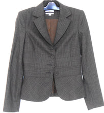 Load image into Gallery viewer, Saba blazer, coffee check, sz. 10 - classic style, all seasons wear, exc. cnd.