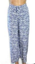Load image into Gallery viewer, Maggie T loose and cool harem pants, blue & white, sz. 20, NWOT