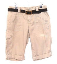 Load image into Gallery viewer, DKNY shorts, camel beige with Motivi Italian leather belt, sz. 10-12, near new
