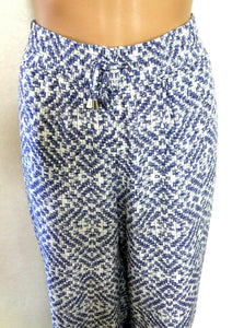 Maggie T loose and cool harem pants, blue & white, sz. 20, NWOT
