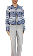 Load image into Gallery viewer, Max Azria - fabulous cropped bolero jacket, sz. 10, dark blue/grey, near new