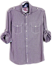 Load image into Gallery viewer, Ben Sherman  casual check shirt, adjustable sleeves, sz M NWOT