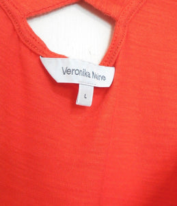 Veronika Maine mandarin orange knit top, cool and spunky, sz. 14/L, exc. cnd.