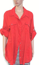 Load image into Gallery viewer, Sussan red shirt/tunic, super cool, sz. 16 NWOT