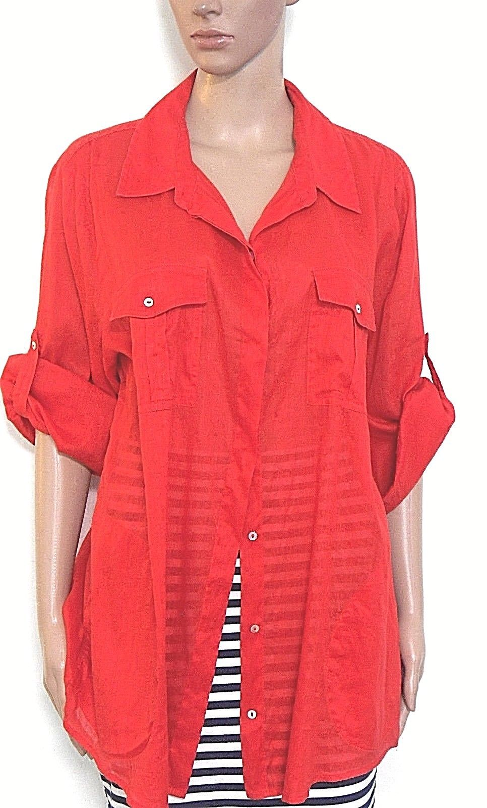 Sussan red shirt/tunic, super cool, sz. 16 NWOT