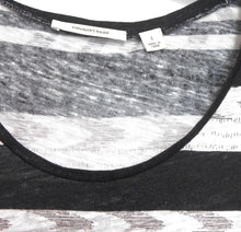 Load image into Gallery viewer, Country Road, linen/cotton tunic top, black & white, sz.10-14/S exc. cnd.