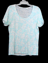 Load image into Gallery viewer, Country Road, mint green/white linen blend tunic top, sz. 14-16/L, exc. cnd.