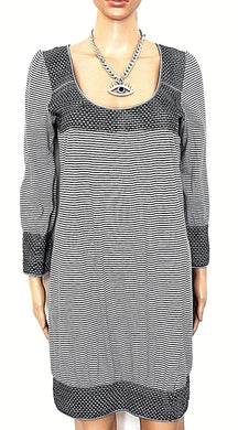 Witchery smock dress, black/grey striped, sz. 10/S all seasons wear
