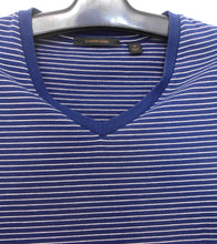 Load image into Gallery viewer, Country Road -  t shirt, nautical colour & stripe, sz. 10/XS - navy V neckline, exc. cnd.