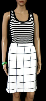 Tokito pencil skirt, white/black check, sz. 14, very chic, near new