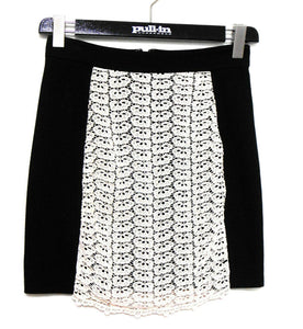 "Alannah Hill ""Bump and grind skirt"", black/ivory lace trim, sz. 10, exc.cnd."