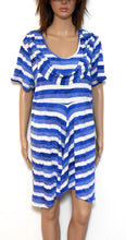 Load image into Gallery viewer, Taking Shape striped tunic, blue tones, near new, sz. M