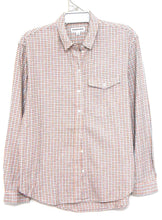 Load image into Gallery viewer, Country Road, check shirt, sporty, peach/grey, sz. 12-14/M as new