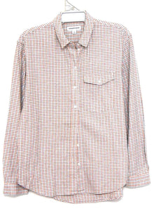 Country Road, check shirt, sporty, peach/grey, sz. 12-14/M as new