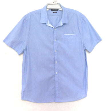 Country Road mid blue shirt with pocket, short sleeves, sz. L, as new
