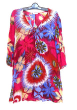 Load image into Gallery viewer, Monsoon tunic dress, cool and breezy, boho style, sz. 16/L hot pinks