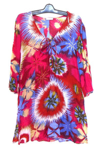 Monsoon tunic dress, cool and breezy, boho style, sz. 16/L hot pinks