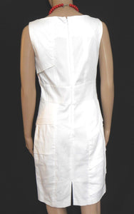Marc New York by Andrew Marc, tiered white dress, sz. 10, near new