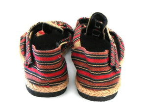 "Espadrille Sandals, ""Far Horizons"" Nepal, sz. 9 rope & canvas NWOB"