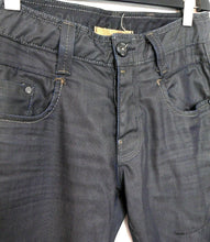 Load image into Gallery viewer, G Star Raw jeans, G 33/01 - charcoal, coated denim, straight leg, sz. 32, near new