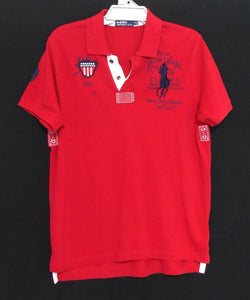 Ralph Lauren red polo top, with graphics , sz. 14/L - for all seasons, exc. cnd.