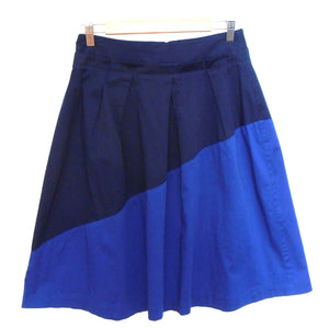 Veronika Maine Midi skirt, dark blue 2 tone, pleated, sz. 8, NWOT