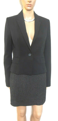 Max Mara fine wool pencil skirt, sz. 8/40, Made in Italy, black speckle weave, exc. cnd.