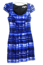 Load image into Gallery viewer, Review dress, dark blue check, sz. 8 - chic casual style, exc. cnd.