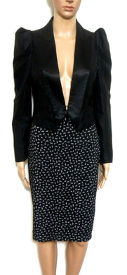 Portmans Status, pencil skirt, black/white dotted, sz. 10 NWOT - for all seasons