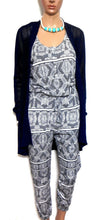 Load image into Gallery viewer, Sussan crochet cardigan, dark blue, sz. 10-12/S NWOT