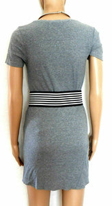 Country Road smoky grey ribbed tunic top, sz. 8-10.S, cotton blend, exc. cnd.