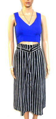 French Connection midi skirt, black and white striped, sz. 10, as new