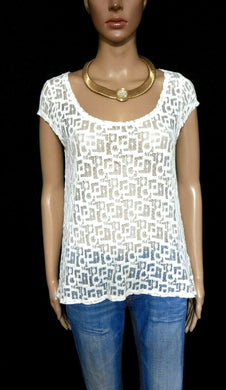 DKNY white lace top,  sz. 10/S, NWOT