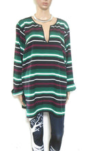 Load image into Gallery viewer, Michael Kors tunic top, loose and cool, dark green striped, sz. 20/2X, NWOT