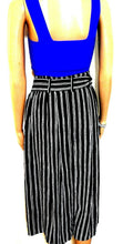 Load image into Gallery viewer, French Connection midi skirt, black and white striped, sz. 10, as new