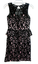 Load image into Gallery viewer, Review black lace dress, very glam for clubs and parties, sz. 8, exc. cnd.
