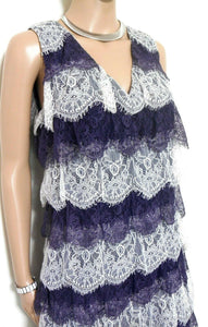 "Alannah Hil, ""Girl About Town Frock"" lace dress, 20's style, grey & white, exc. cnd."