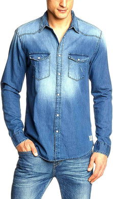 Jack & Jones blue shirt with pockets, sz. L - XL, ***NWT