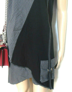 Taking Shape loose tunic dress with pocket, sz. 18, black & grey, exc. cnd.