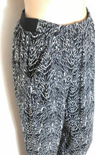 Load image into Gallery viewer, Witchery, pull on pants, black & white tribal, sz. 8-10 cool and breezy, exc. cnd.