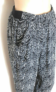 Witchery, pull on pants, black & white tribal, sz. 8-10 cool and breezy, exc. cnd.